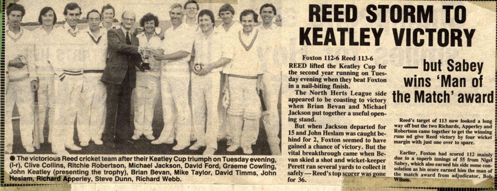 Keatley Cup 1984