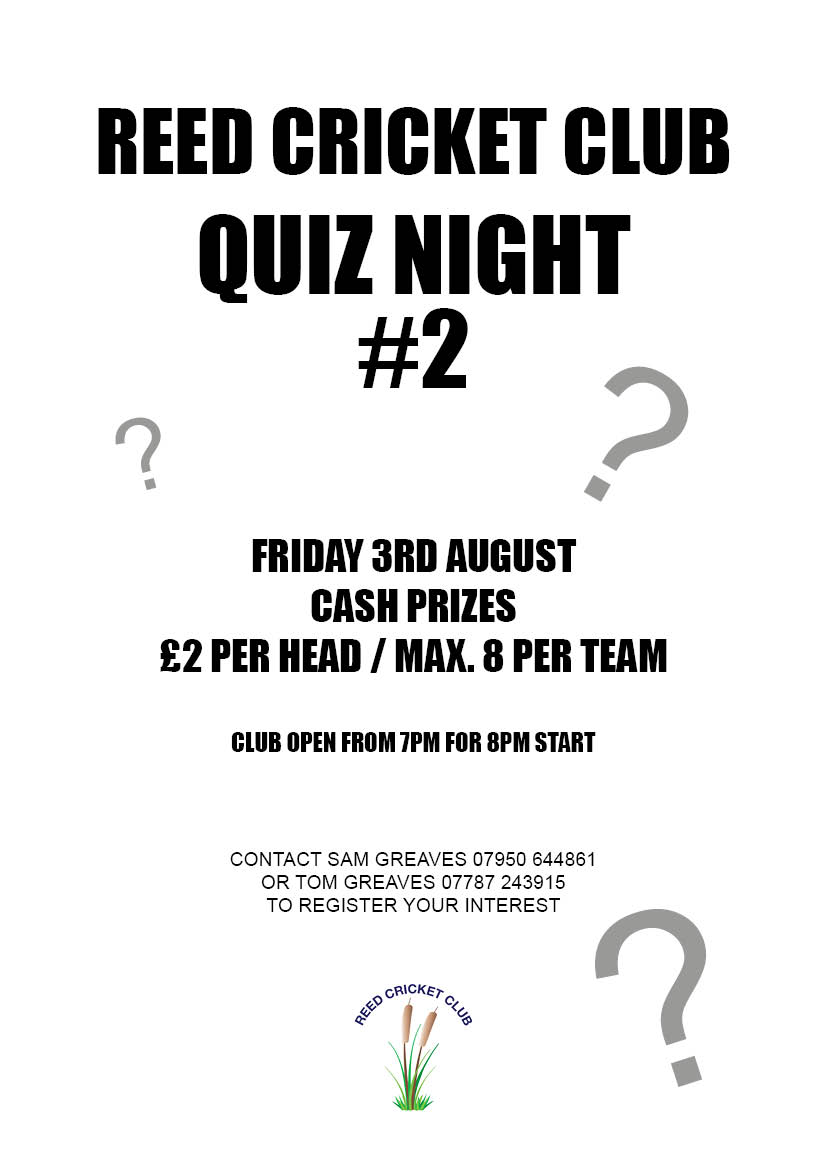 Reed CC Quiz poster