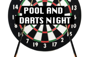 Pool and darts poster 2019