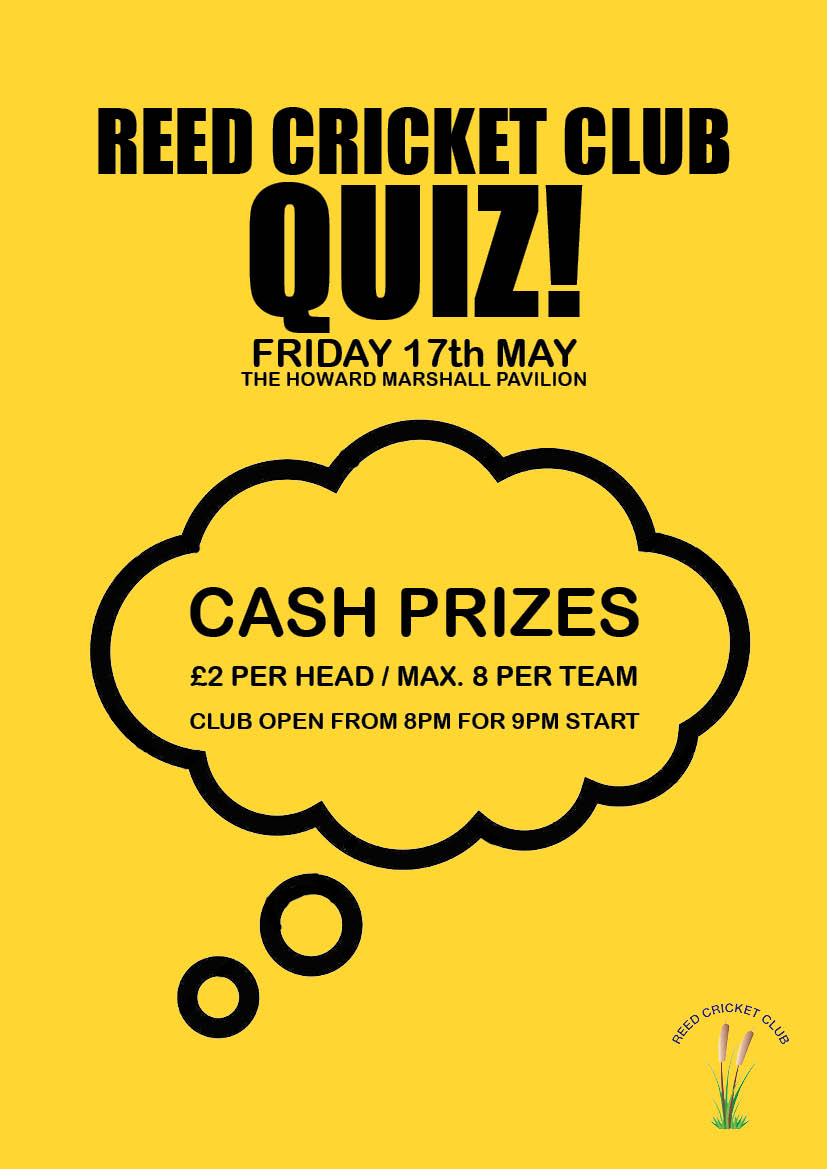 Reed CC Quiz poster May 2019