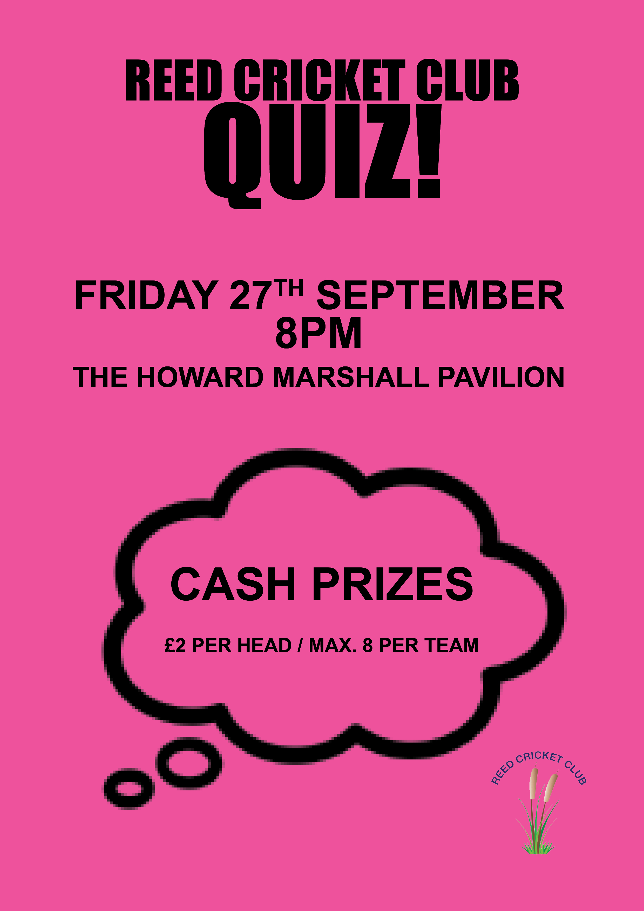 RCC September Quiz, Friday the 27th