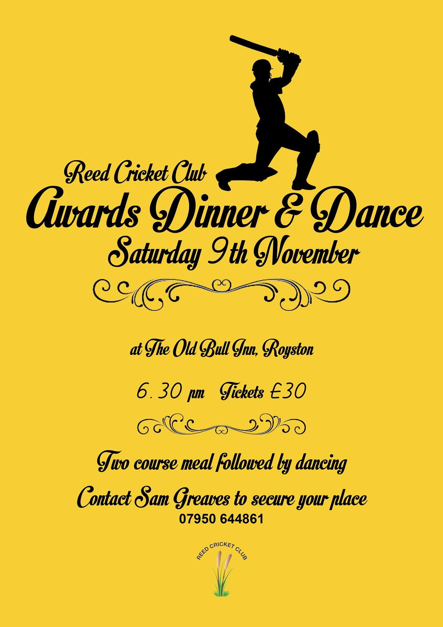 Reed CC Annual Awards Dinner & Dance, 9th November